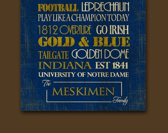 Notre Dame University Notre Dame Football Art Print The
