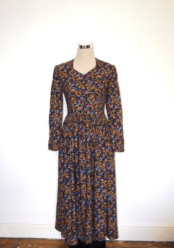 Holiday Sale - Laura Ashley dress. VINTAGE. Boho prairie dress. UK 10 Eur 36 USA 6