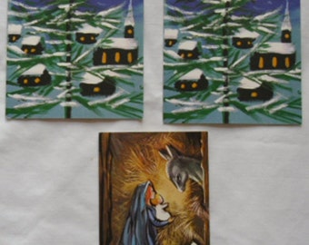 Vintage Gordon Fraser - Christmas Cards from the 70s  - Two by Klara and One by Regie Gillard