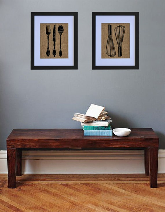 Kitchen Set Wall Decor Kitchen Wall Art Burlap by ...