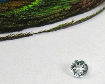 Aquamarine Faceted 4mm Round - Genuine Natural Faceted Gemstone - March Birthstone