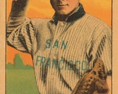 Claude Berry - Baseball Card Print - 24 x 15 inches - San Francisco Seals - PCL - 1910 - OffTheHookInMyNook