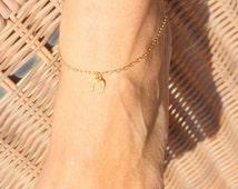 Tiny  horseshoe ankle bracelet