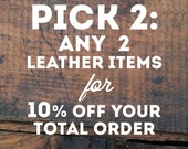 SALE Pick 2: Any Leather Goods - Card Holders, Clutches