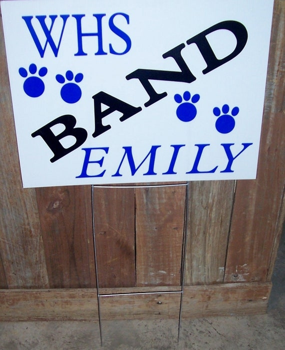 items similar to corragated plastic school spirit yard signs with vinyl lettering on etsy. Black Bedroom Furniture Sets. Home Design Ideas