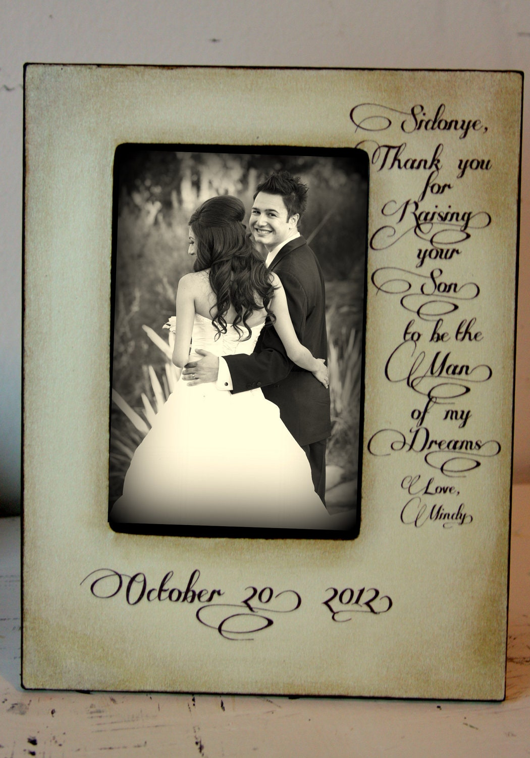 Wedding Picture Frame Thank You For Raising To Be The Man Of