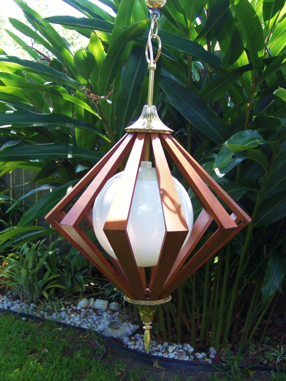 Mid Century Modern Swag Lamp Eames Era Pendant Lamp By
