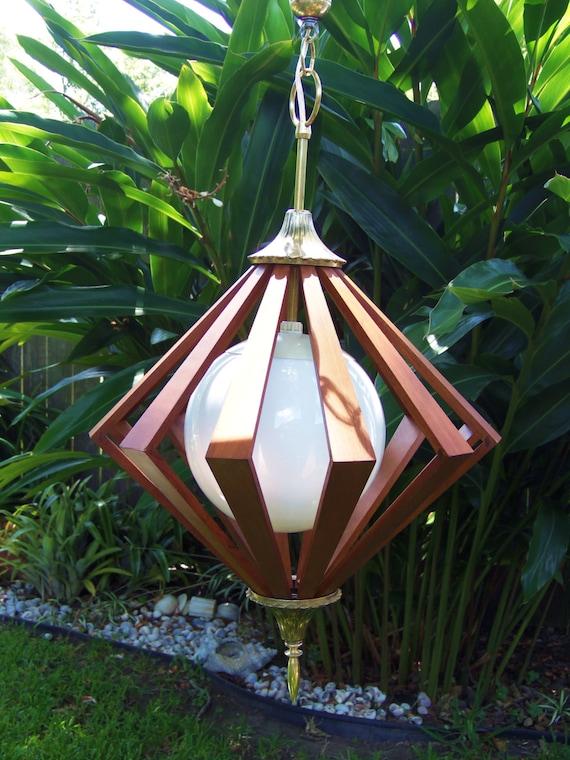 Mid Century Modern Swag Lamp Eames Era Pendant Lamp 1960s