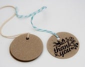10 Medium Round Kraft Tags