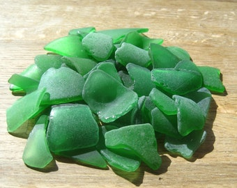 Bulk Sea Glass Kelly Green Wedding Decor Extra Lerge