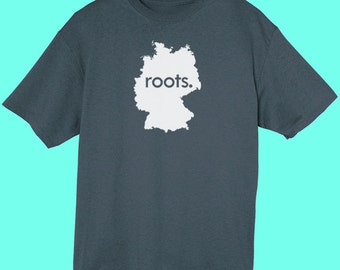 Germany Roots Map T-Shirt - Mens & Womens(Juniors) Tee Shirts Size S M L XL