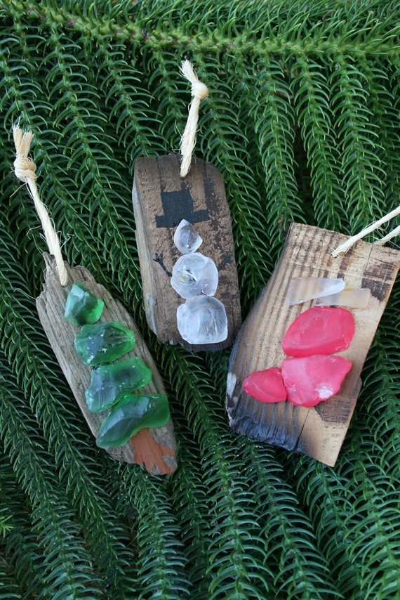 Sea Glass Driftwood Christmas By Peacelovedriftwood On Etsy