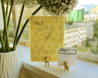 Table Number Holders, Wedding, Party decoration table cards, Custom holders for 12 tables