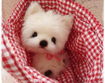 "PDF Instant Download - Pattern / E-Book Westhighland Terrier Puppy  ""  FLAKE "" :) - 5 Inch - Eileen Seifert - Teddy-Manufaktur.de"