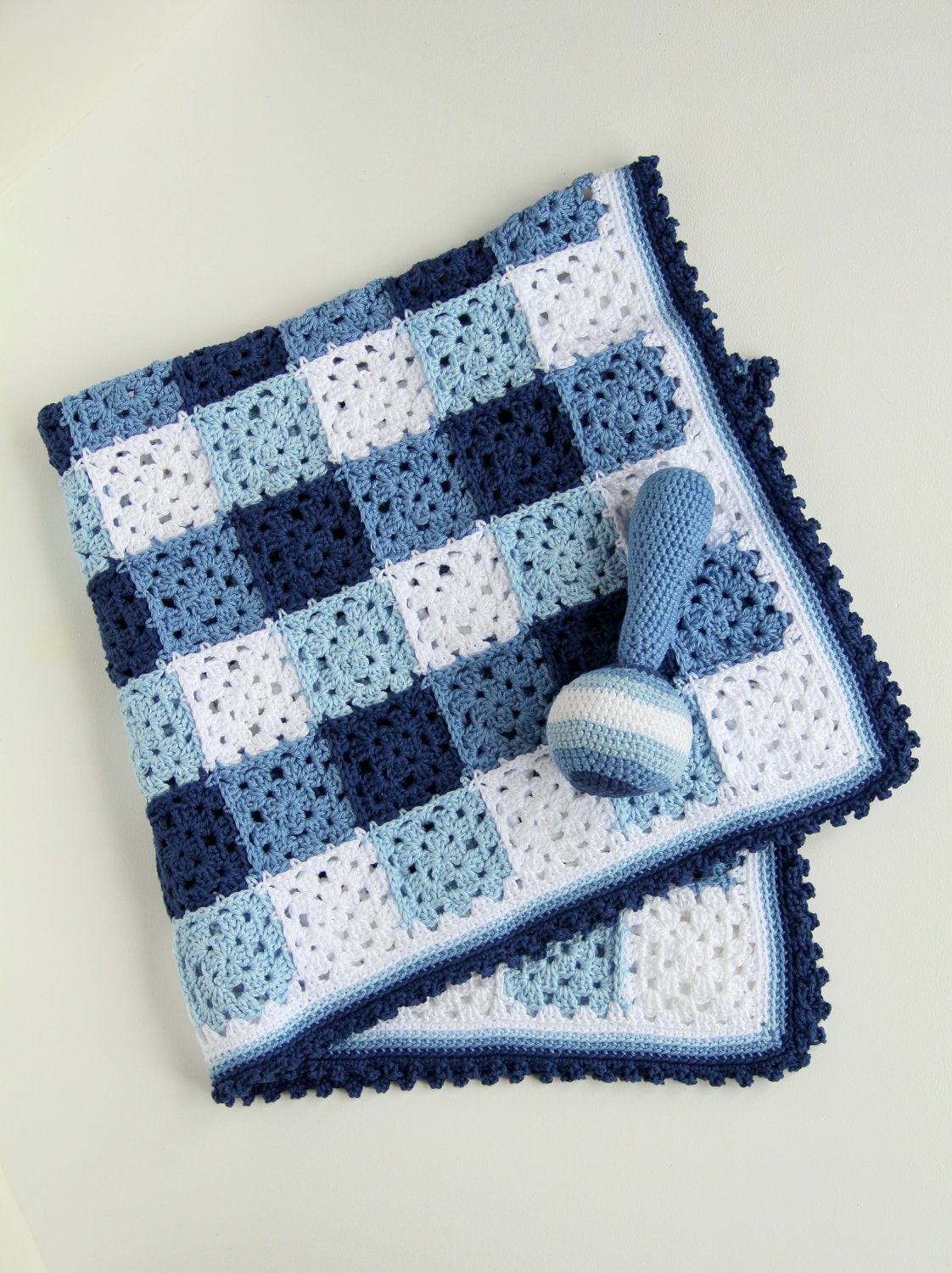 Crochet Patterns Etsy : Crochet pattern baby blanket and rattle by creJJtion on Etsy
