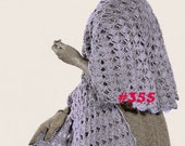 A BEST Vintage 1950s Fancy Lace Shell Cape Stole Wrap 355 PDF Digital Crochet Pattern