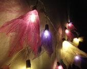 20 Purple Tone Color Bodhi Leave Flower Fairy Lights String 3.5M Home Accent Floral Decor