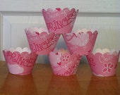 CLEARANCE SALE Ready to ship 12 Princess Cupcake Wrappers