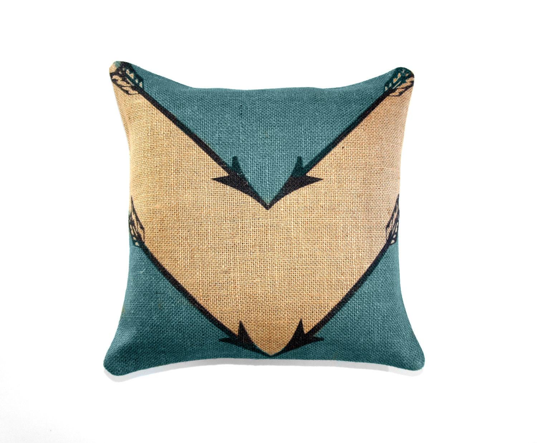 Etsy Throw Pillows Turquoise Arrow Pillow Chevron Geometrical Sagittarius