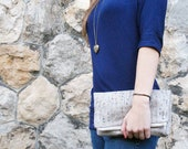 CLUTCH - two sided, fold over bag
