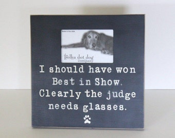 Best in Show picture frame for the dog and dog lover, distressed frame, shabby chic