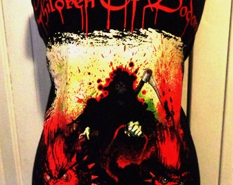 Children of Bodom heavy metal reconstructed band shirt tunic mini dress many sizes available
