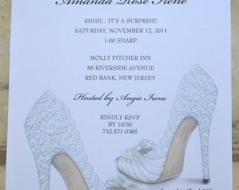 BRIDAL SHOWER INVITATIONS Shoe Theme Bridal Shower - Bridal Shower Invites Personalized