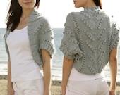 Knit Shrug, Knit Bolero, Knit  sleeves, Sizes XS to Plus Sizes