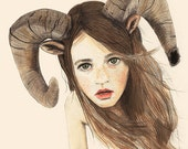 Nymph - LIMITED EDITION PRINT - A3 illustration Print