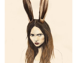 Hare - LIMITED EDITION PRINT - Giclee Print A4