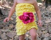 Petti Romper - Lace Romper - Yellow Lace romper - Baby Romper - Ruffle Romper - Lace Dress - Baby Outfit