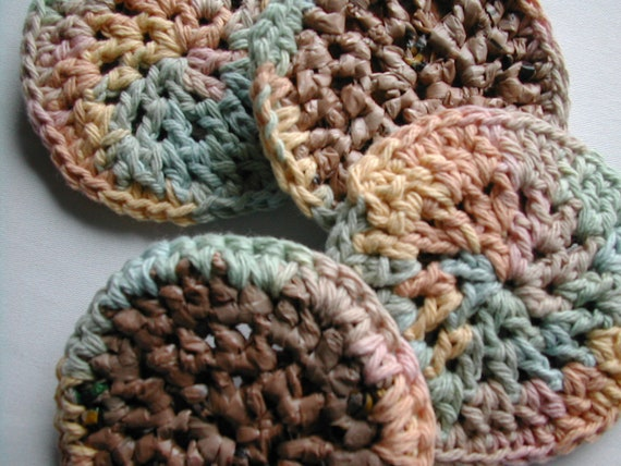 Orbits by Ginger - Eco-Friendly Plarn and Cotton Dish Scrubbies