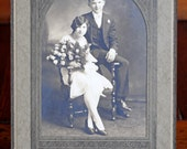 Vintage 1920s Young Couple Photograph // Vintage Young Love Photo w/ Frame