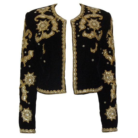 Vera Mont 1980s Vintage Matador Jacket Evening Bolero Blazer