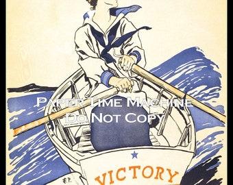 Victory Girls WWI Vintage Art Print - Digitally Remastered Fine Art Print / Poster