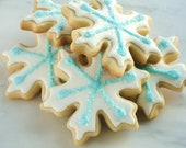 6 Frozen Birthday Party Favors Snowflake Cookies