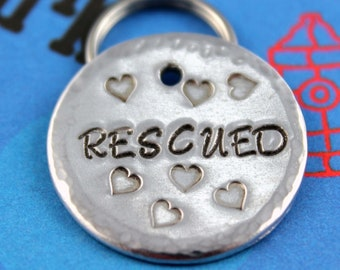 Metal Dog Tag - Personalized Dog Collar Tag - Pet Name Tag - Customized