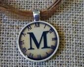 Personalised Resin Alphabet Clock Pendant