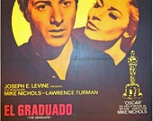 The Graduate, Spanish One Sheet (27x39in aprox) 1969. Original Vintage Movie Poster