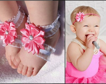 Barefoot Baby Sandal Set, Barefoot Sandals Set, Bottomless Baby Sandals Set, Baby Girl Sandals Set, Barefoot Sandals Set, Barefoot Sandals