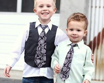 36 Neck Ties - Baby, Toddler & Boy Child (Adjustable) - Floral, Stripes, Damask, Paisley, Black, Green, Blue, Orange