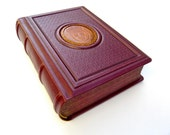 Leather journal with crest in gift box