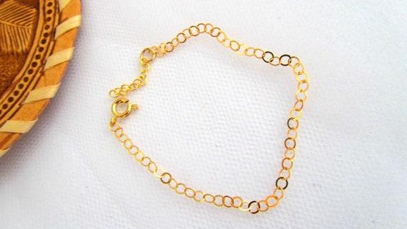 Gold chain bracelet,dainty gold bracelet, elegant  jewelry, everyday jewelry