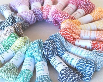 15 Yards of Colorful Bakers Twine - Choose your color - Cotton Twine by The Twinery