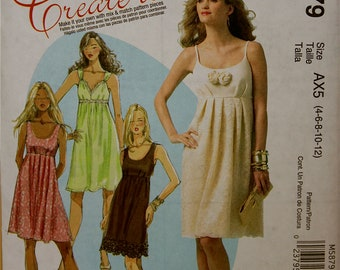 """Summer Dress McCall's Create it Pattern 5879 Uncut  Sizes 4-6-8-10-12  Bust 29.5 to 34"""""""
