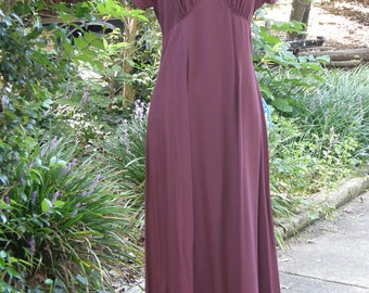 1980's Decked Out graceful maroon dress, party, prom vintage