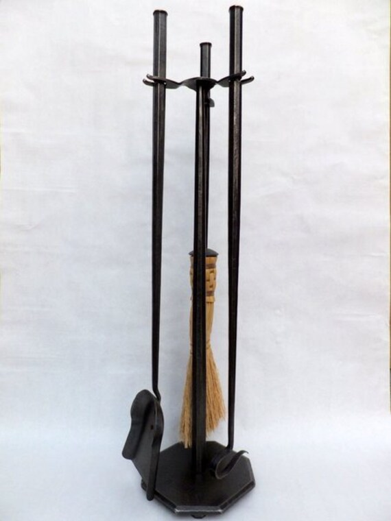 ... Hand Forged Fireplace Tools Set Octagon Style. 🔎zoom - Forged Fireplace Tools Set Octagon Style