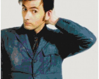 David Tennant Doctor Who Tenth Doctor Cross Stitch Pattern