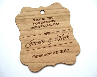 Wooden Tags (150) / Gift Tags /  Wedding Favor Tags / woodHang Tags / Wood tags / Custom tags  - Wood Personalize wood tags