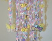 Butterfly Wonderland Crib Mobile (purple, pink, yellow, white,blue) Nursery decor Baby Shower Gift Chandelier
